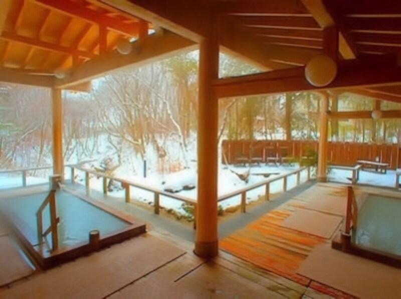 ホテルサンバレー那須の雪見露天風呂