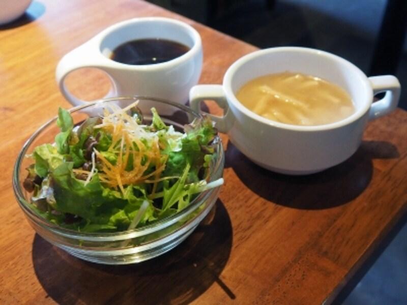 スープ&サラダ&コーヒー@Bambi