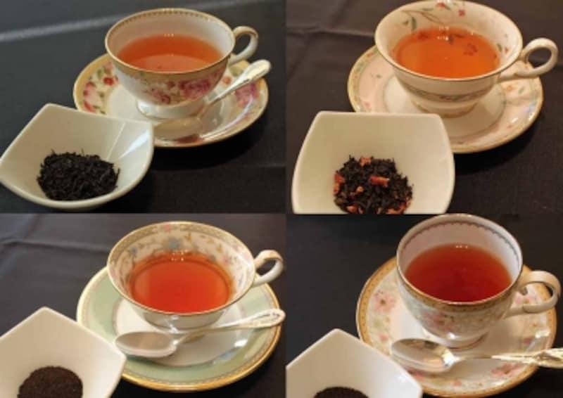 紅茶の水色や風味だけでなく、ティーカップまでも楽しめますね