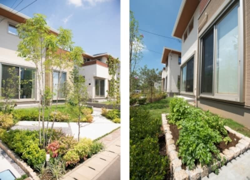 「農あるまちづくり」を推進する地域であることをふまえ、家庭菜園やガーデンスペースを充実させたプランになっています
