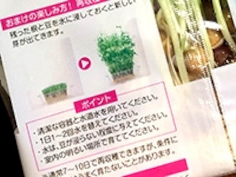 豆苗のパッケージ