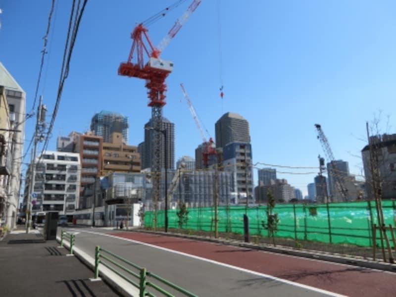 建設中の湊二丁目東地区