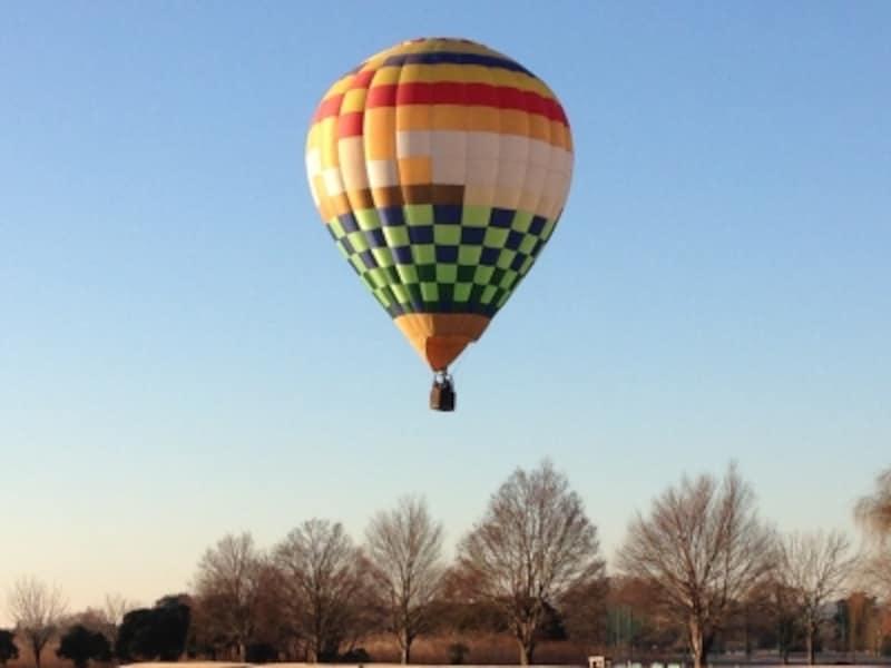 熱気球のフリーフライト