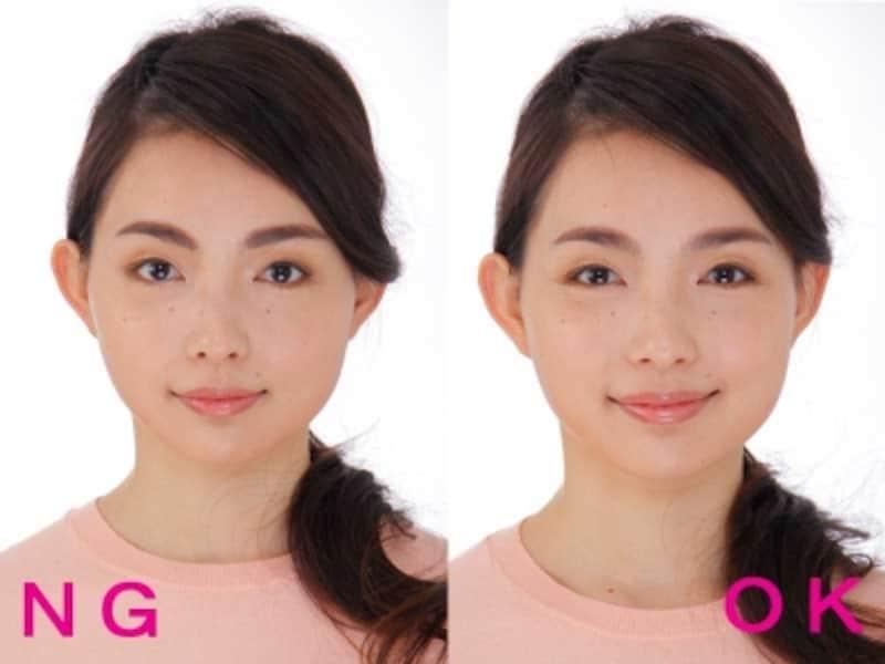 左:ぼかし忘れのNG太眉例undefinedundefinedundefined右:OKなソフト太眉例