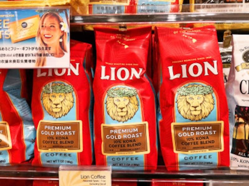 ABCストアで扱うライオン・コーヒーは7oz。この日は5.39ドルで販売