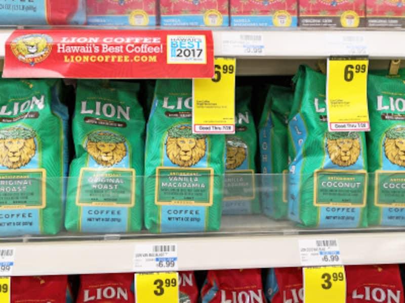 ライオンコーヒーには、抗酸化物質が入ったアンチオキシダントリッチのフレーバーコーヒー(緑)も