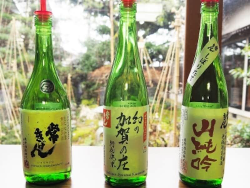 純米大吟醸常きげん、特別純米幻の加賀の庄、山廃純米吟醸無濾過生原酒山廃吟@鹿野酒造