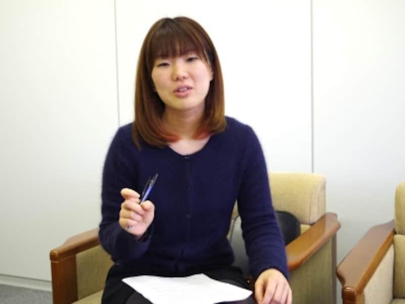 マーケティング課の菊地真由美さん