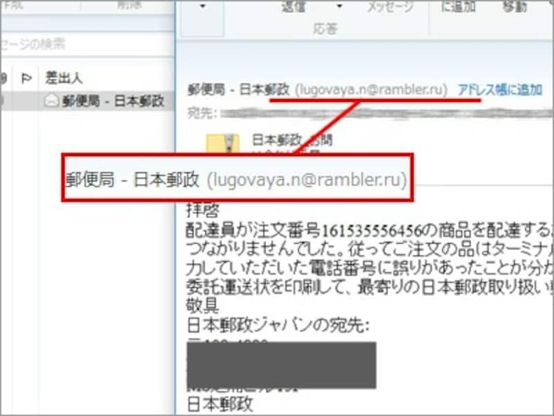 ポイントは、メールアドレスが日本郵政に関係しない