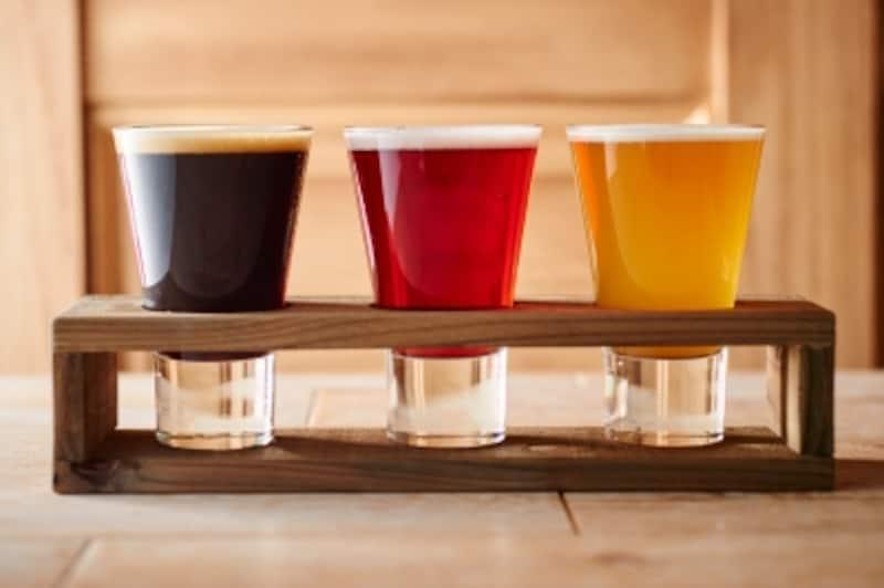 クラフトビールの飲み比べが気軽にできるのが楽しい!
