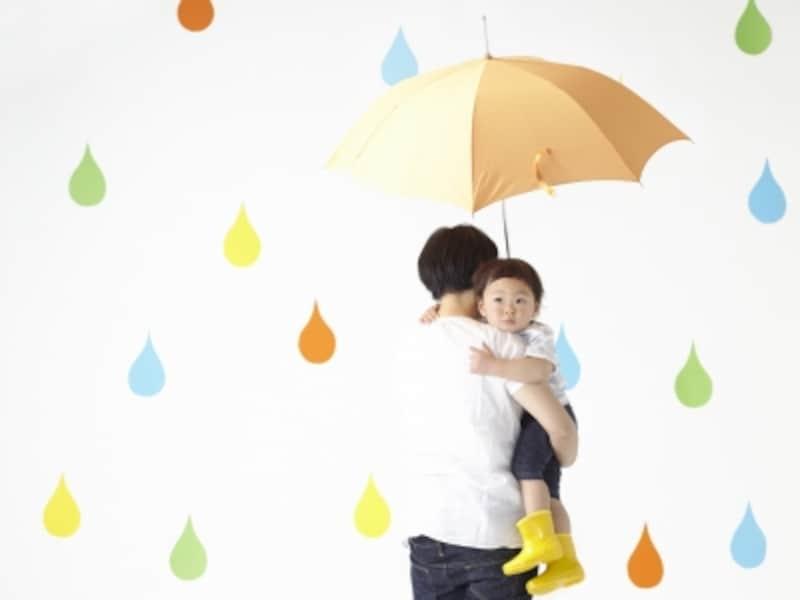涙模様のママと子供