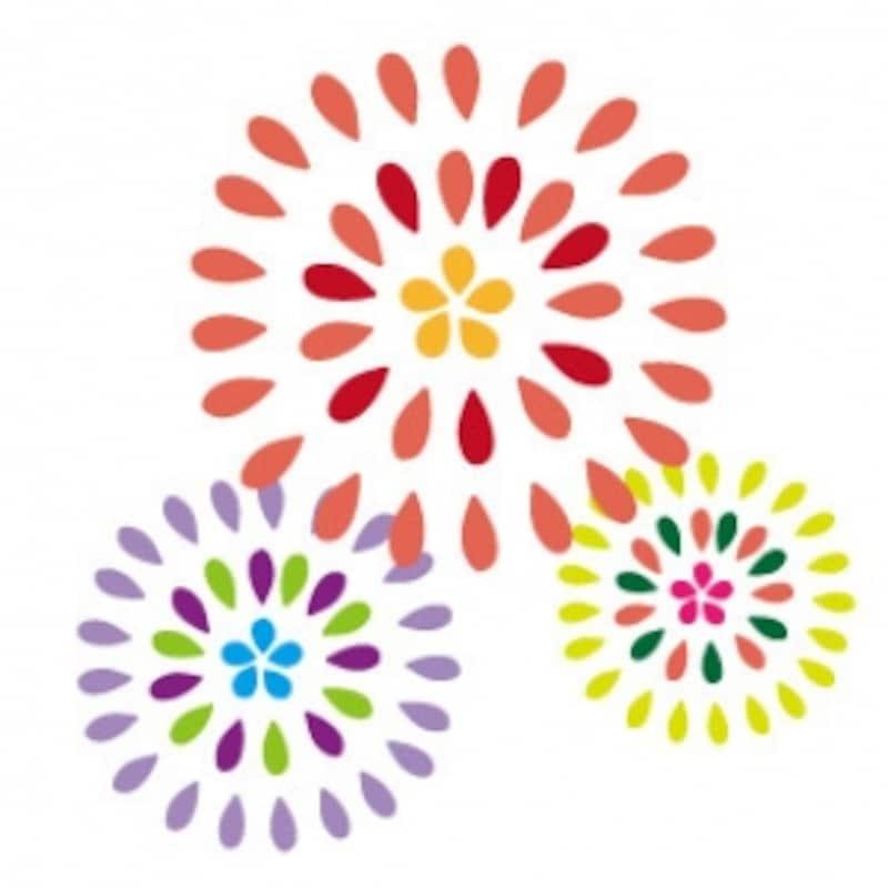 花火 夏祭り イラスト カラー かわいい