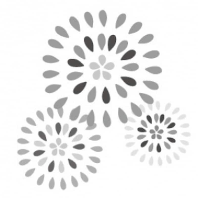 花火 夏祭り イラスト 白黒 かわいい