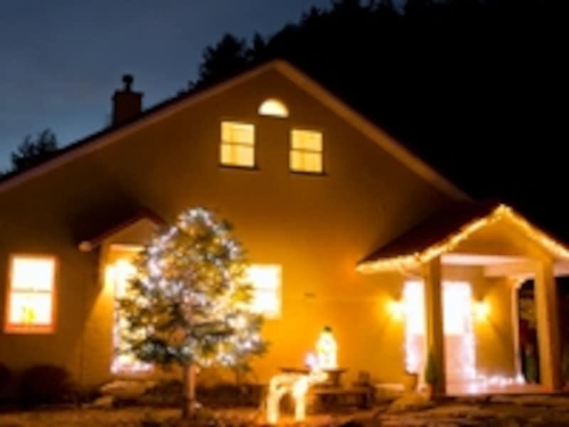 夜の一戸建て住宅