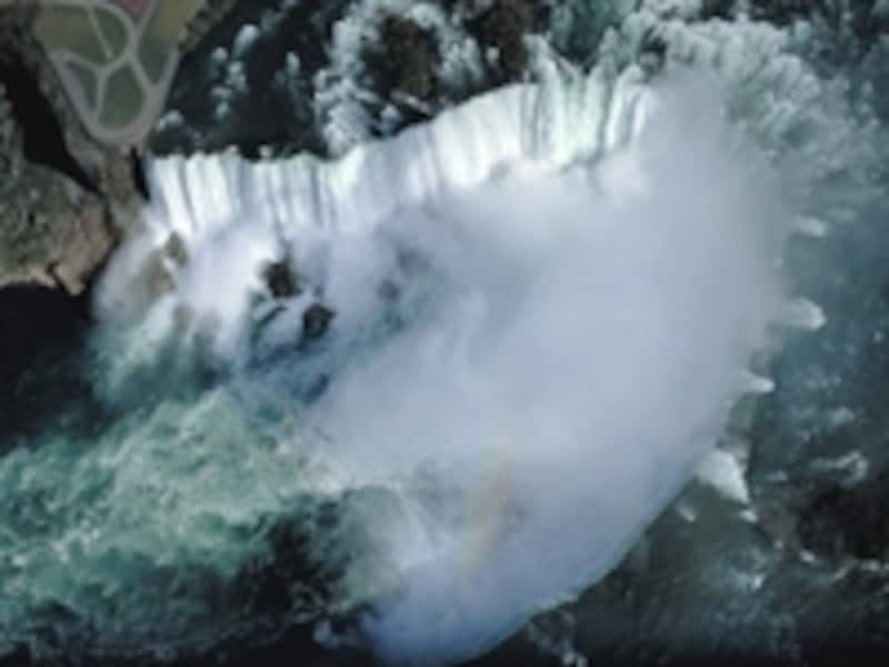 空から見たナイアガラの滝undefined写真提供:オンタリオ州観光局