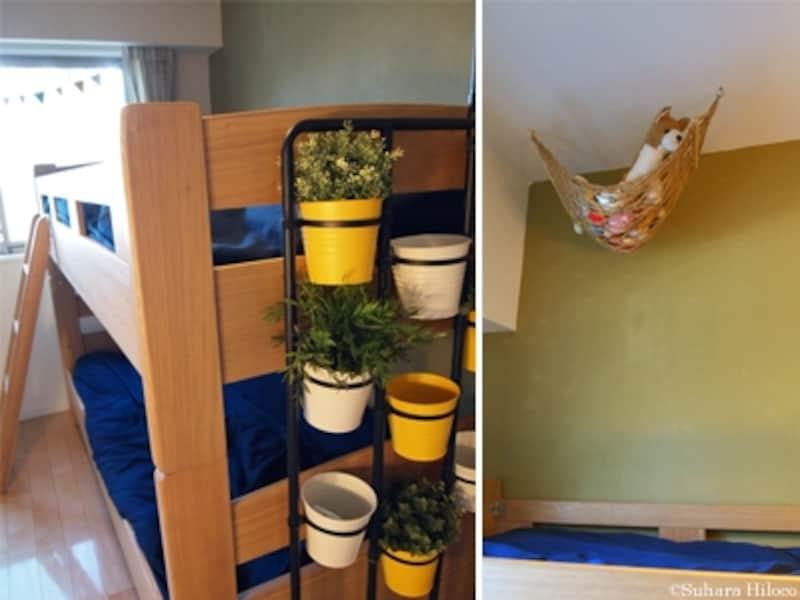 子ども部屋の2段ベッド