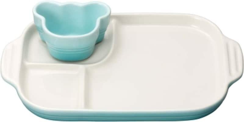 ルクルーゼベビーマルチプレート&ラムカン子供用食器セットパステルブルー5,100円