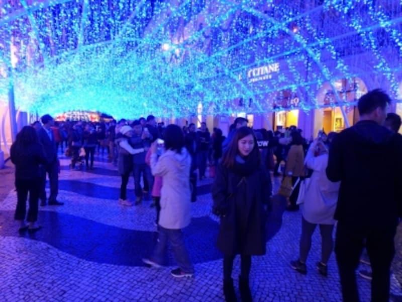 「マカオ・ライトフェスティバル」の時の広場