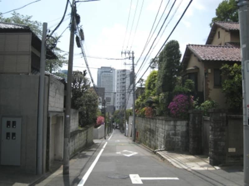 東中野の住宅街