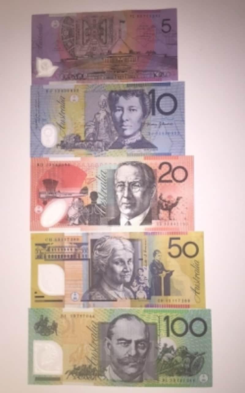 おーすたラリアドル紙幣undefined裏面