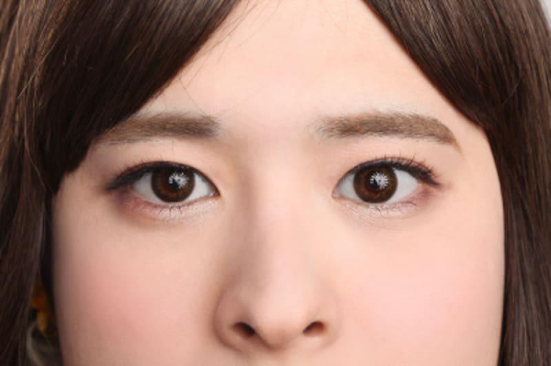 女装メイクの目元は、丸いタレ目を意識