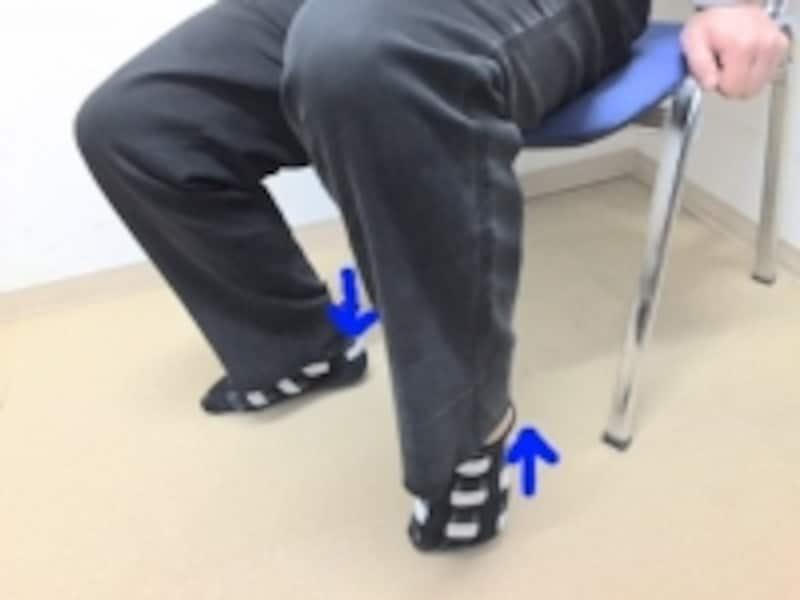 下肢の筋肉バランスが崩れ筋肉が硬くなていると、かかとが床にピッタリつかない場合もあります