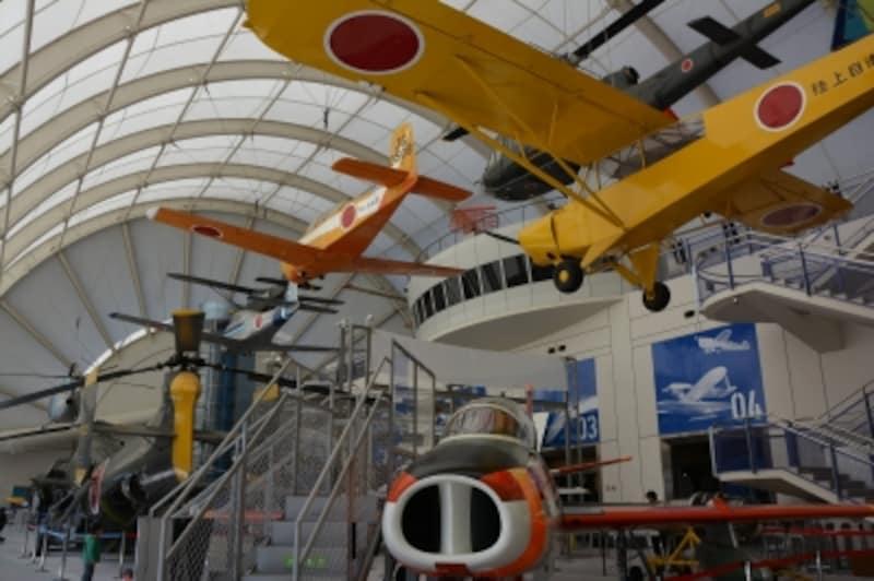 所沢航空発祥記念館の三次元展示空間