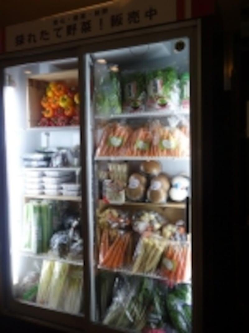 野菜を店頭で販売