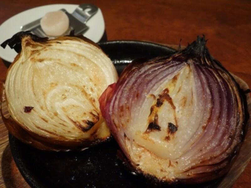淡路島産フルーツ玉葱とアリーレッドのオリーブオイル岩塩焼き(680円?税別)