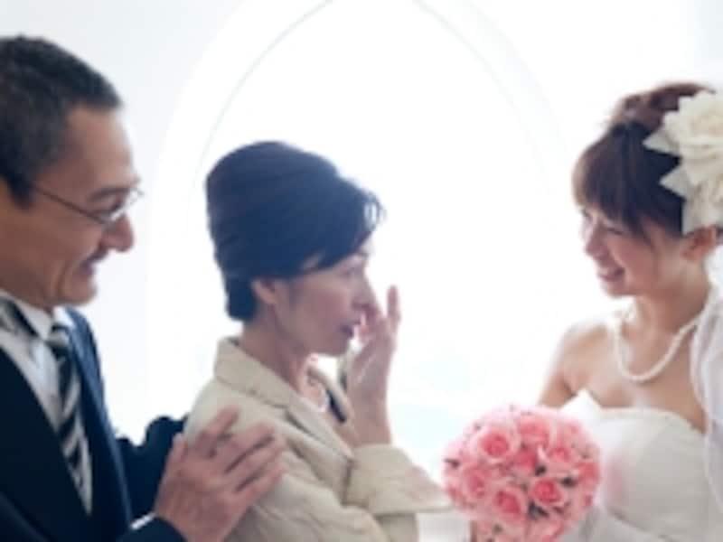 結婚式で両親に挨拶