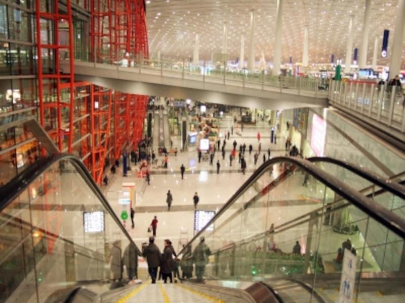 中国旅行の荷造り「空港」