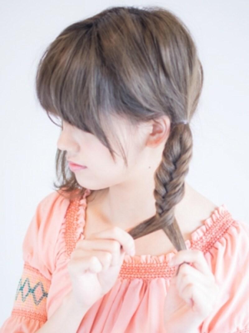10センチ動きになる毛を残す