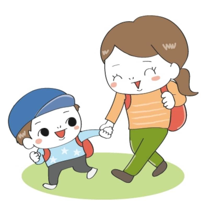 親子 遠足 イラスト カラー かわいい