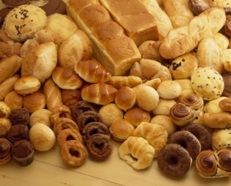 パンの種類はさまざま。