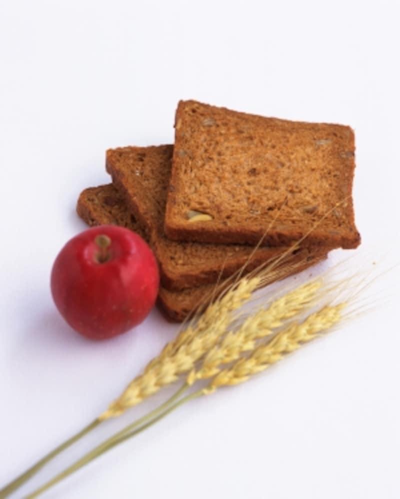 全粒粉のパンは、GI値が上がりにくい。