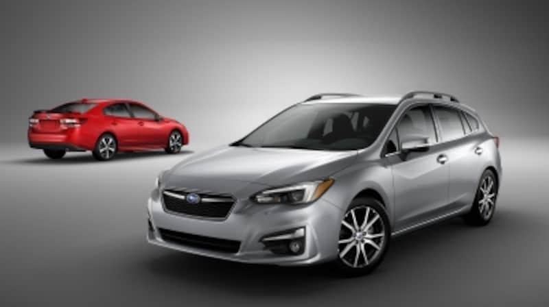 ニューヨーク国際自動車ショーにて世界初公開となったスバル新型「インプレッサ」(写真は北米仕様車)