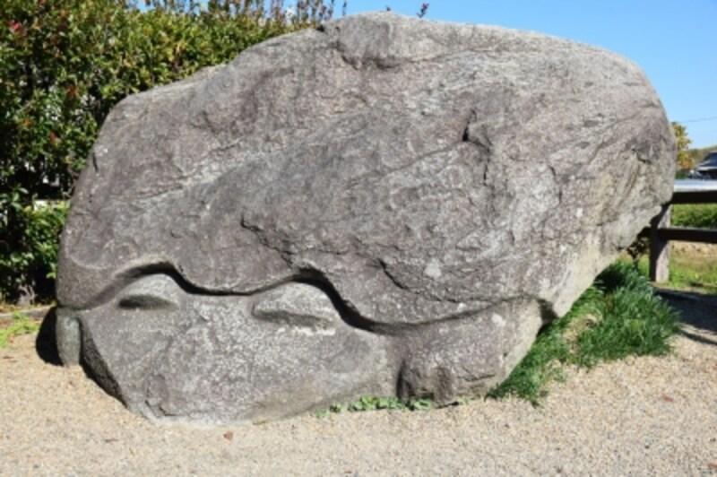 【亀石】明日香村といえば、古代の「石造物めぐり」が楽しい。「亀石」は古代石造物の一つ