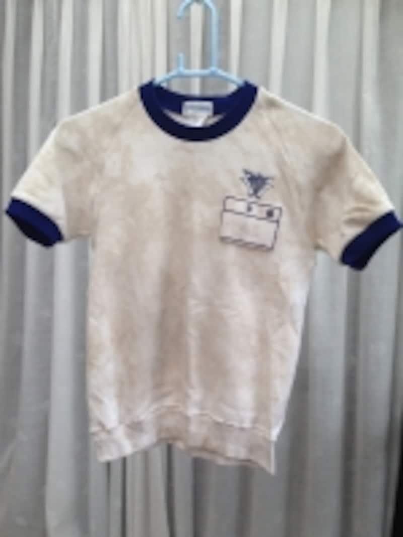 こちらは持ち主が一度普通に洗濯した後のシャツ。まだまだ使える状態じゃありませんでした。