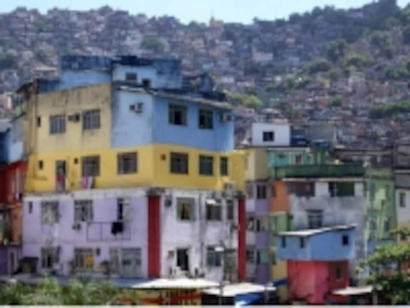 リオのカラフルな家