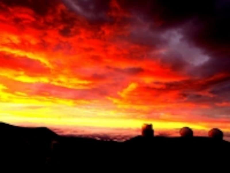マウナケア山サンセット