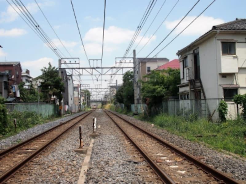 赤羽駅では高架だった赤羽線が地上に降りてきた。