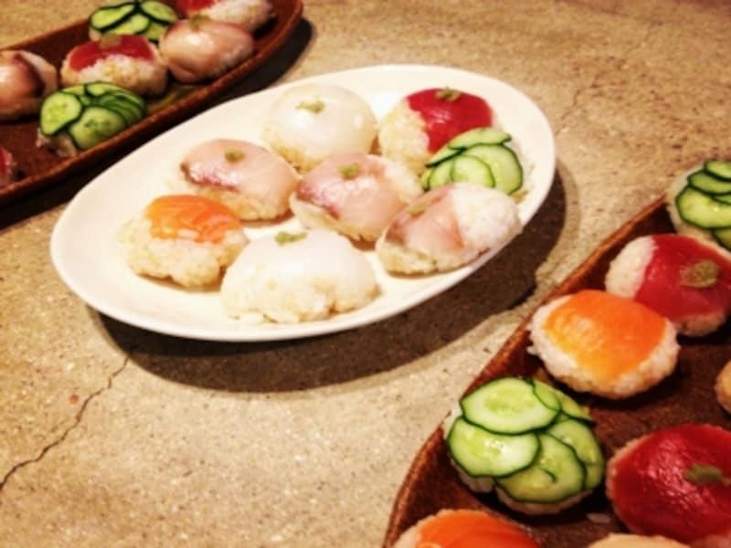 手毬寿司程度の大きさなら食べ過ぎ予防に◎
