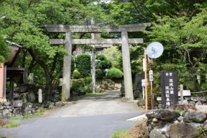 筑波山神社の一の鳥居(6丁目の鳥居)