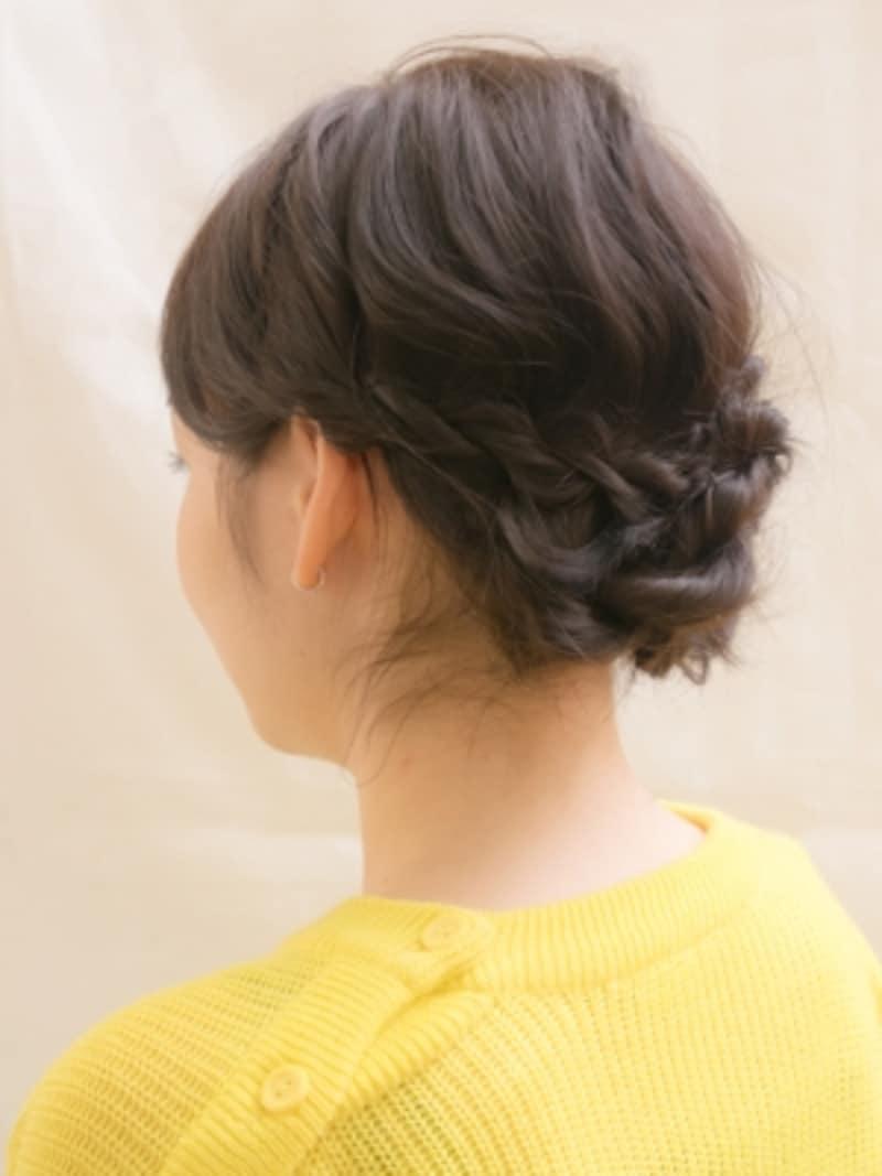 ロープ編みのやり方!ねじるだけで簡単まとめ髪ヘアアレンジ