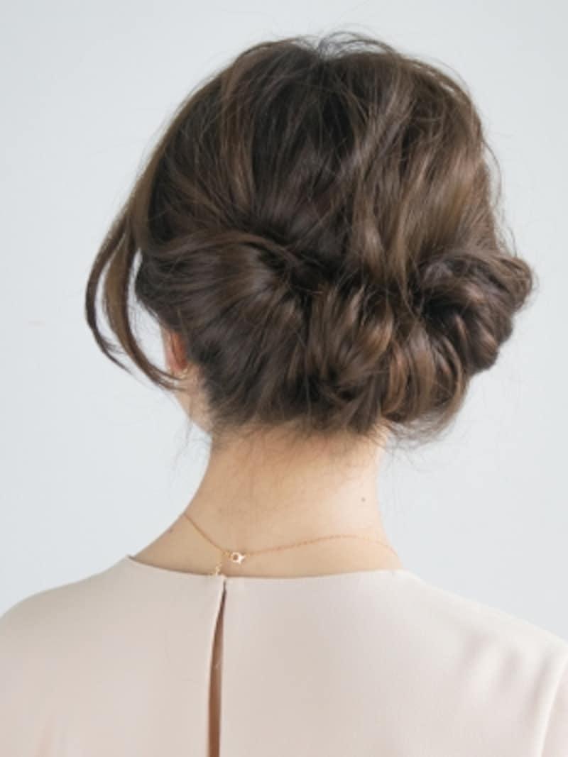 完成したギブソンタックの(正面orバック) hair&make/KAORI