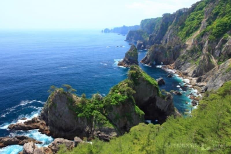 世界に誇れると評された北山崎の風景(写真提供:岩手県観光協会)