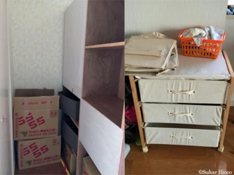 子ども部屋の衣類収納に100均