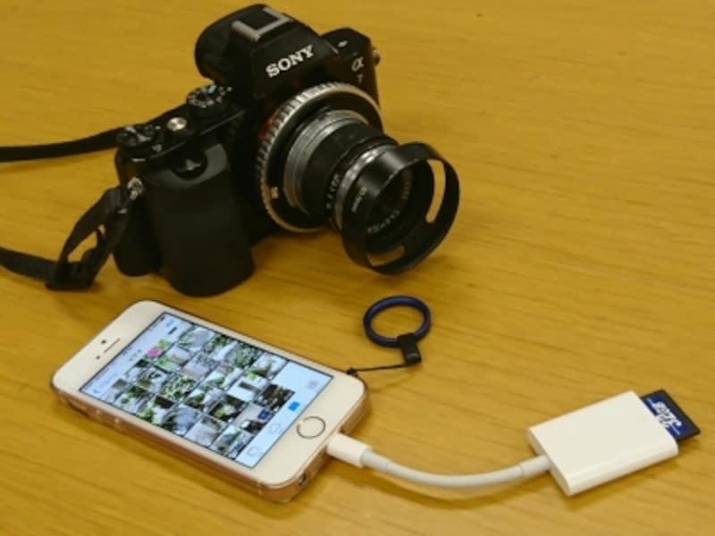 デジタルカメラで撮影したデータをiPhoneに取り込んで編集