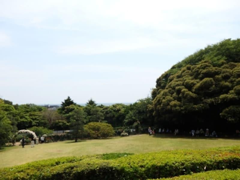 鎌倉文学館の庭園