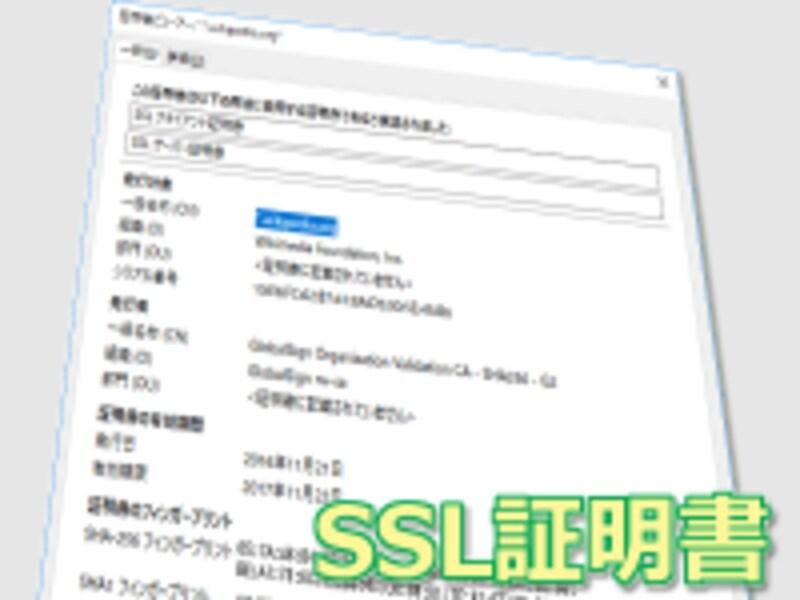 ウェブサイトの運営者(運営組織)の身元を確認するSSL証明書